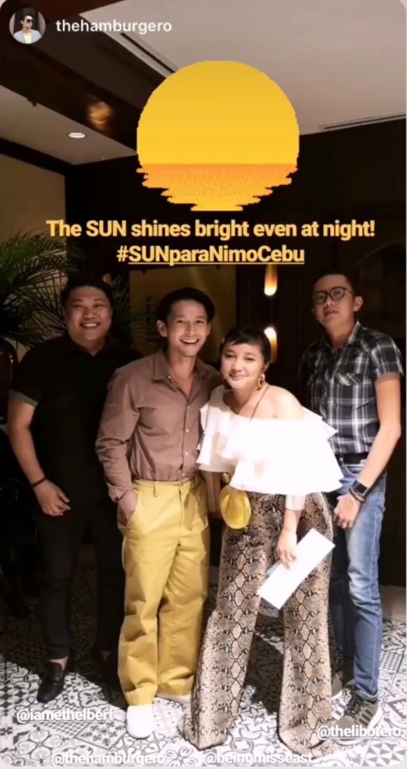 Atty. Ethelbert Ouano (@iamethelbert) together with other Sun Prepaid Ambassadors Michael Karlo, Banisa, and Sinjin. #SUNParaNimoCebu